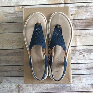 NWT Sperry Jade Navy Sandals